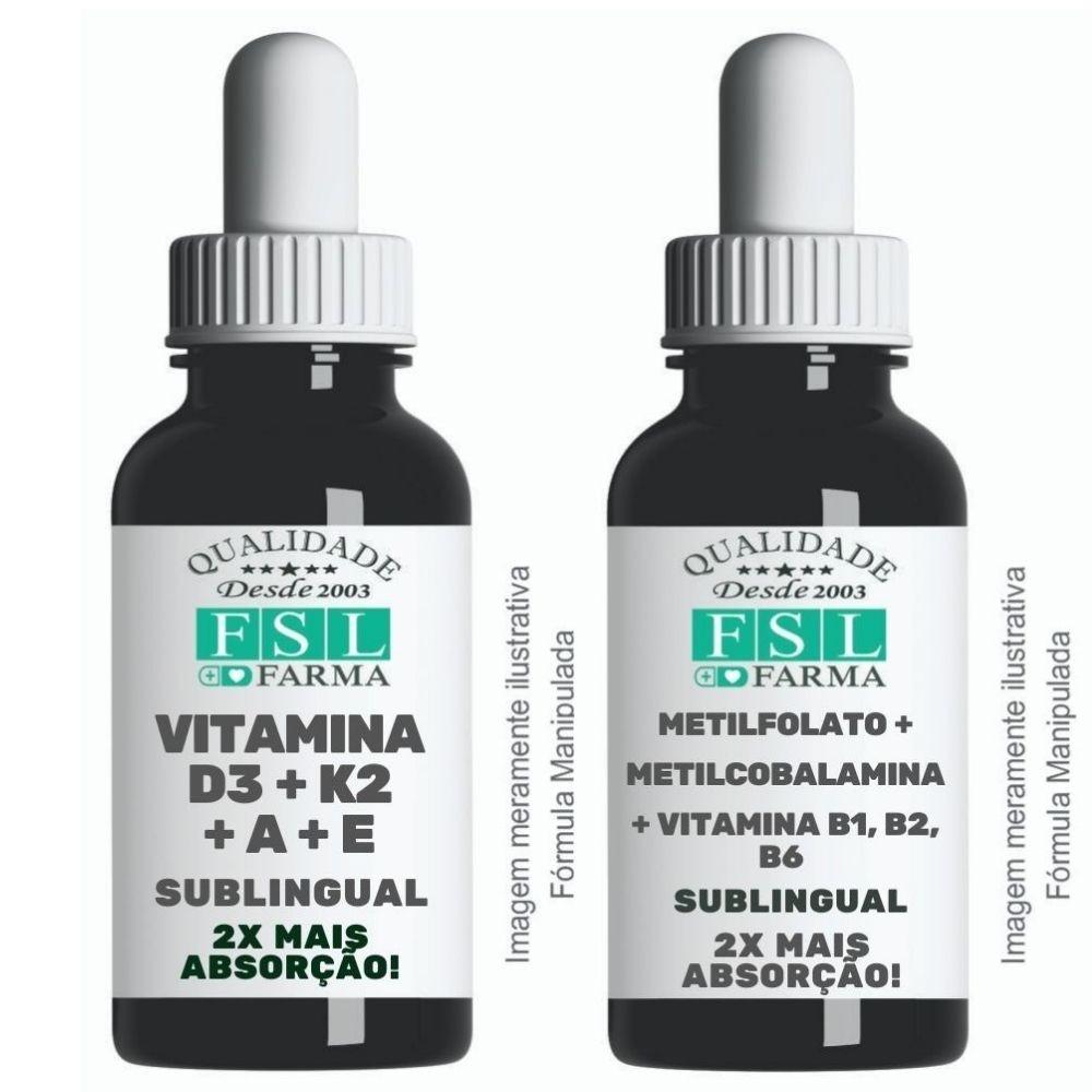 Combo Vitaminas Poderosas - Sublingual