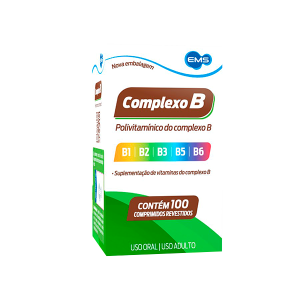 Complexo B com 100 comprimidos - EMS