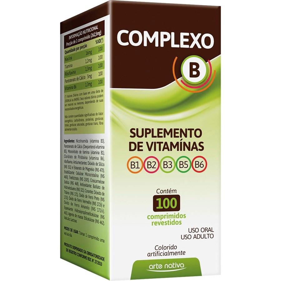 Complexo B Suplementos de Vitaminas 100 comprimidos
