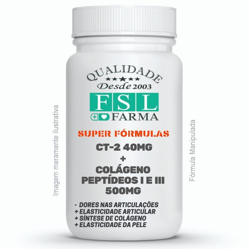 CT-2 Colágeno Tipo II + Colágeno Tipo I e III 500mg ®