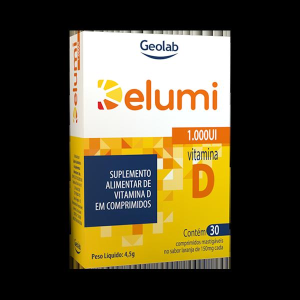 Delumi 1.000UI com 30 comprimidos - Geolab