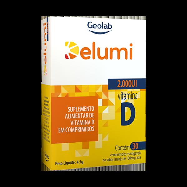 Delumi D3 2.000UI com 30 comprimidos Geolab