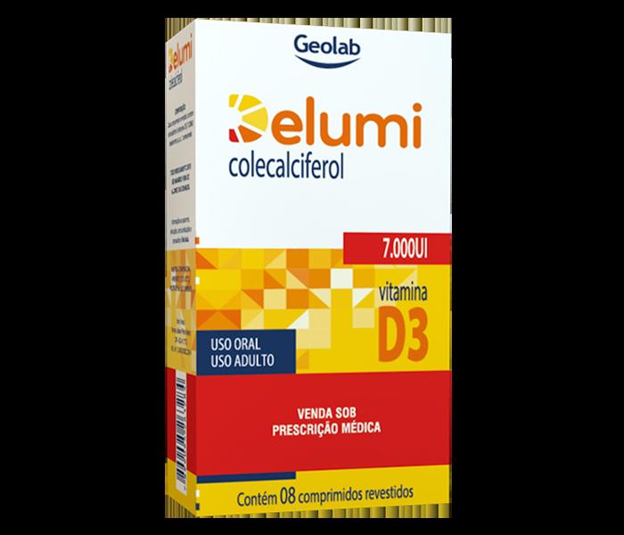 Delumi D3 7.000 UI com 8 comprimidos Geolab