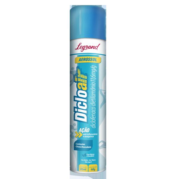 Dicloair 11,6mg/g aerosol com 60g - Legrand