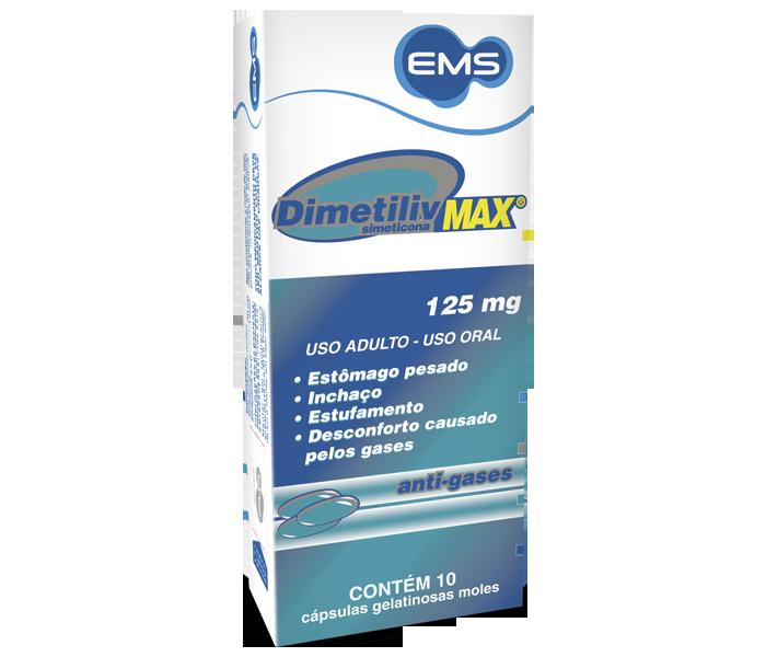 Dimetiliv Max 125mg com 10 cápsulas- EMS