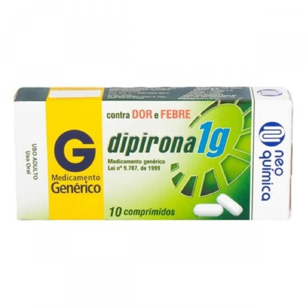 Dipirona Monoidratada 1G 10 Comprimidos