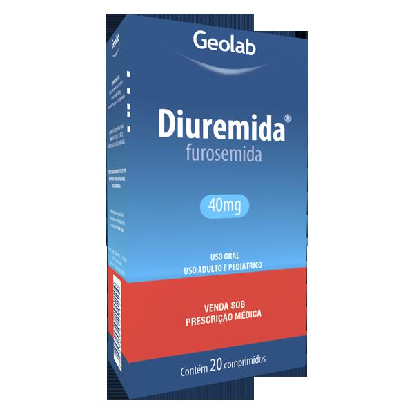 Diuremida 40mg com 20 comprimidos Geolab