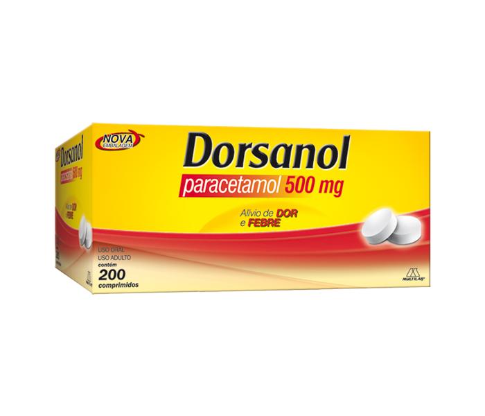 Dorsanol 500mg com 200 comprimidos - Multilab