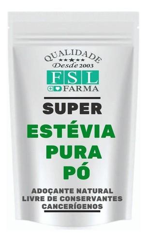 Estévia Puro Pó Vegan 100% Natural - 3 Un De 40 Gramas