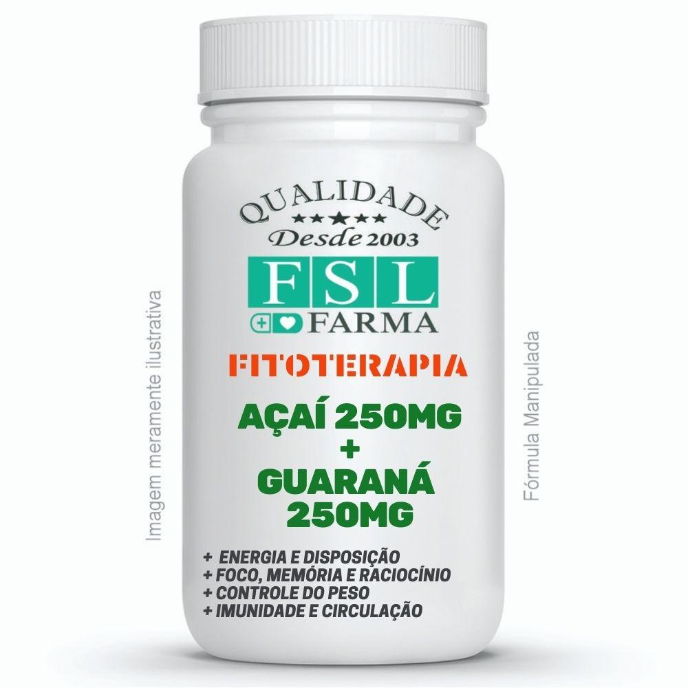 Extrato de Açaí 250mg + Guaraná 250mg - Softcaps ®