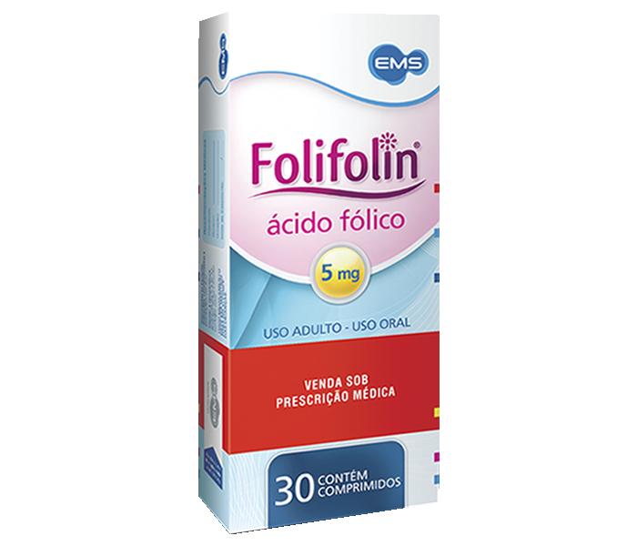 Folifolin 5mg com 30 comprimidos - EMS