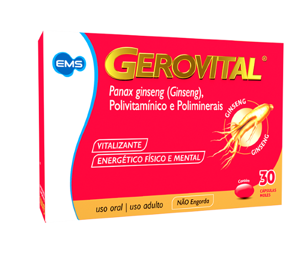 Gerovital (Ginseng) 30 cápsulas - EMS
