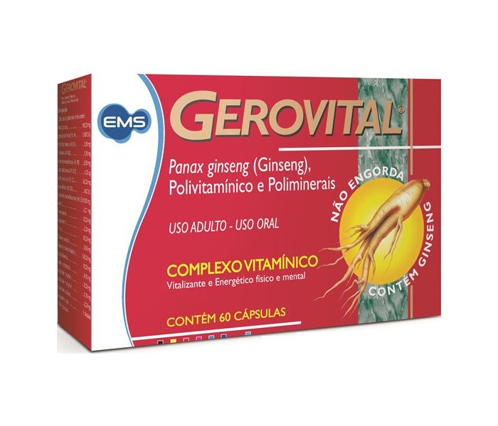 Gerovital (Ginseng) 60 cápsulas - EMS