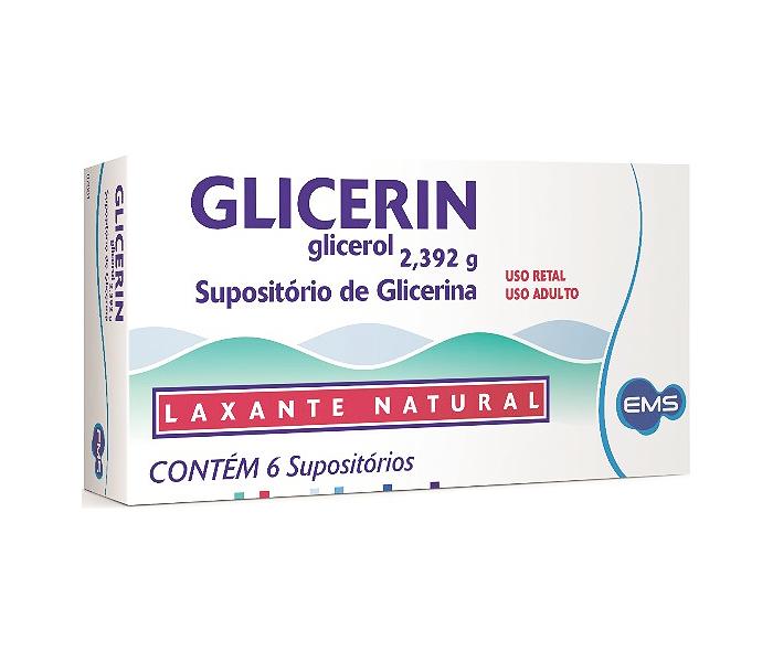 Glicerin (Adulto) com 6 supositórios - EMS