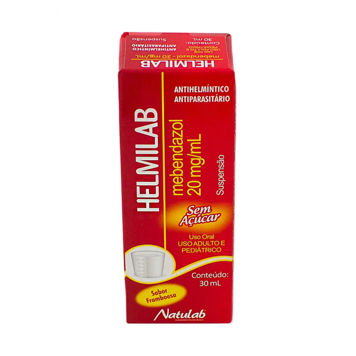 Helmilab (Mebendazol) 20mg/ml com 30ml - Natulab