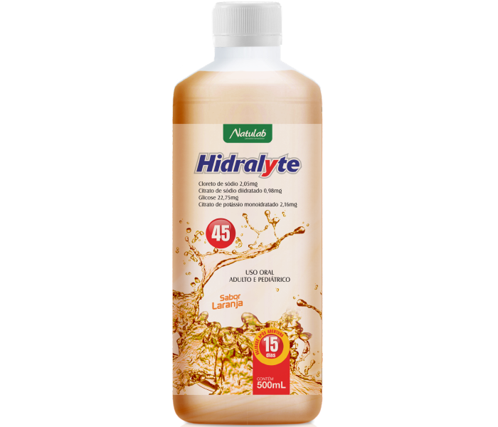 Hidralyte Laranja 500ml - Natulab