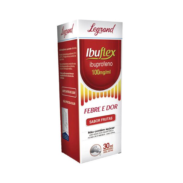 Ibuflex 100mg/ml com 30ml - Legrand