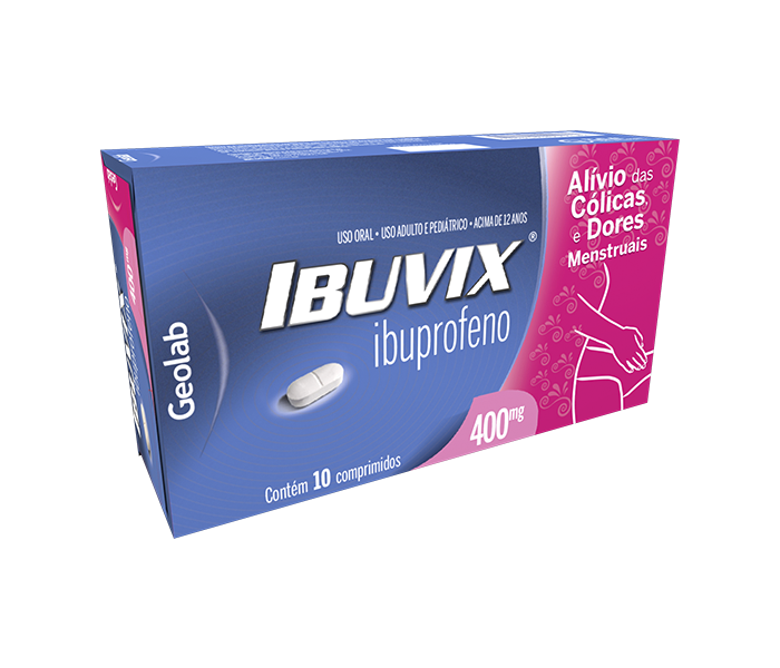 Ibuvix 400mg com 10 comprimidos Geolab