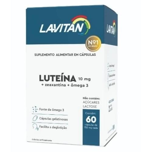 Lavitan Luteína 10 mg  + Zeaxantina + Ômega 3 60 cápsulas