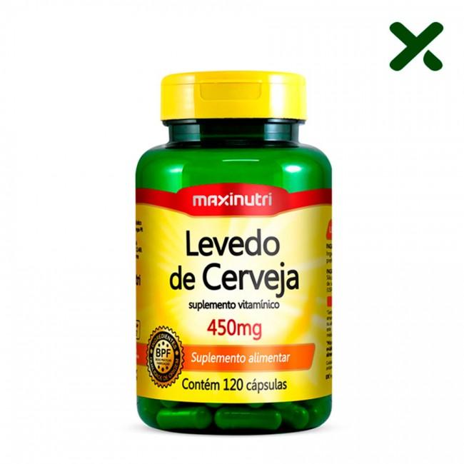 Levedo de Cerveja (Suplemento Vitamínico) 450mg com 120 Cápsulas
