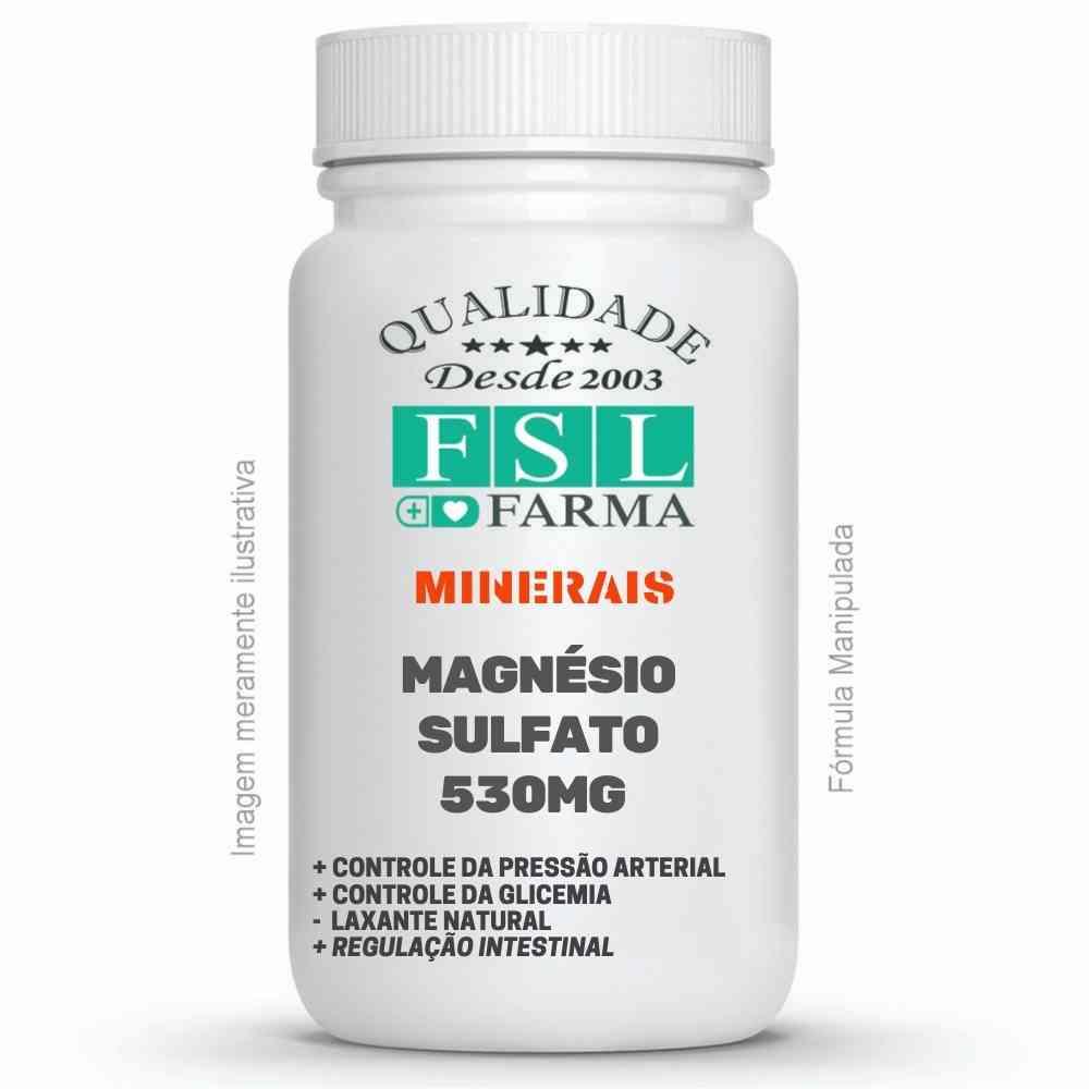 Magnésio Sulfato (Sal Amargo) 530mg - Anti-hipertensivo ®