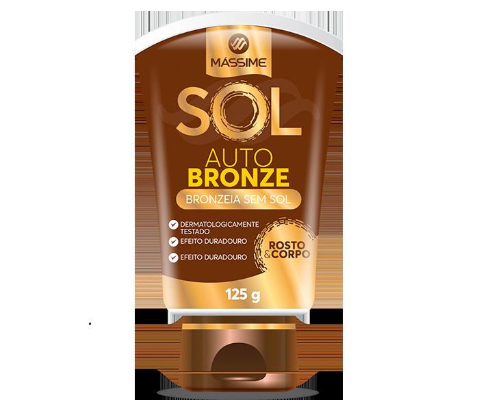 Mássime Sol Auto Bronze Para Rosto e Corpo C/125g