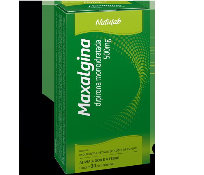 Maxalgina 500mg com 30 comprimidos - Natulab