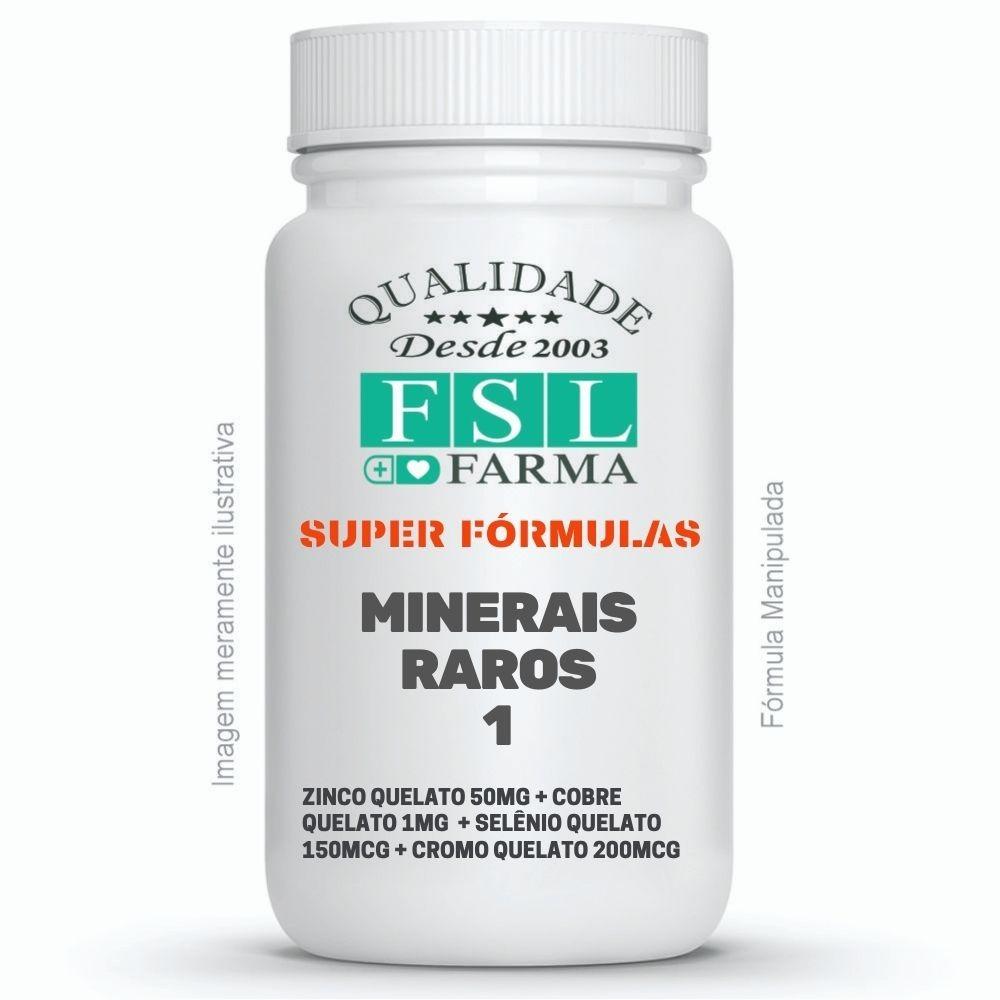 Minerais Raros 1 - Zinco, Cobre, Selênio, Cromo ®