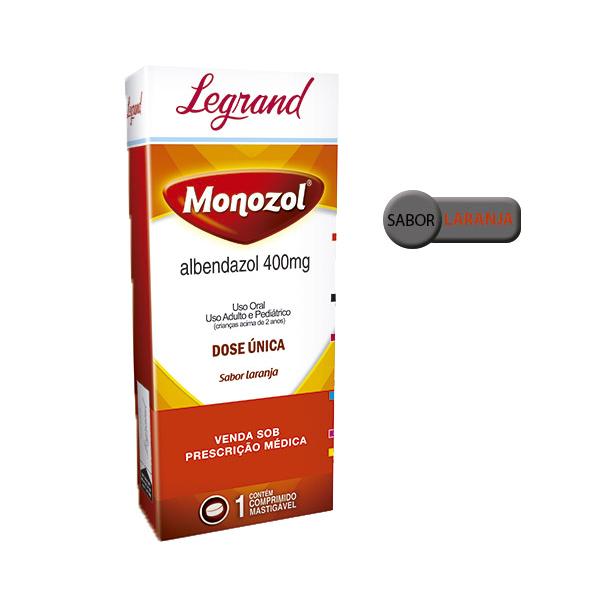 Monozol 400mg com 1 comprimido - Legrand