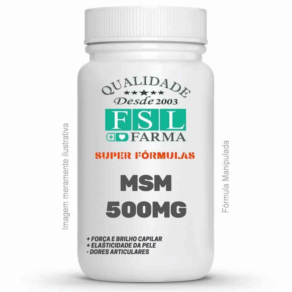 Msm Enxofre Orgânico 500Mg - 60 Cápsulas ®