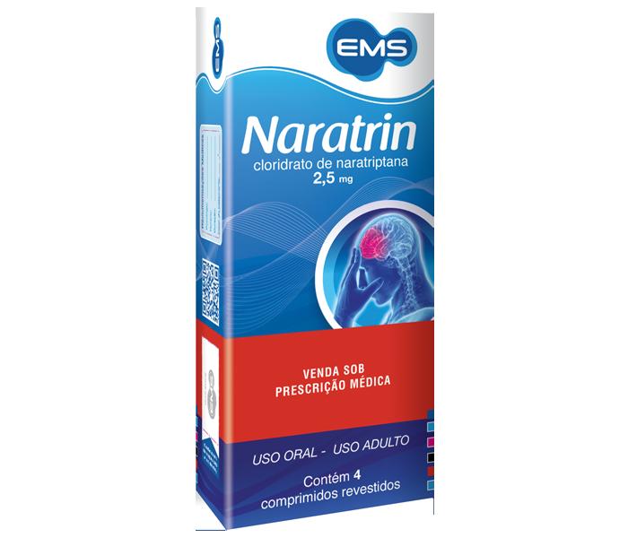 Naratrin 2,5mg com 4 comprimidos - EMS