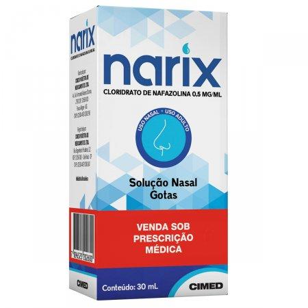 Narix (Cloridrato De Nafazolina) Gotas 30 ML