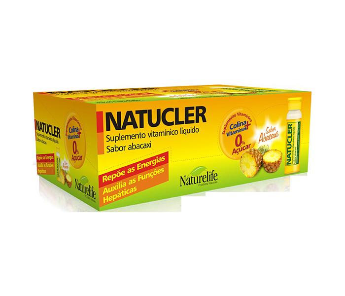 Natucler Sabor Abacaxi com 60 flaconetes de 10ml cada - Natulab