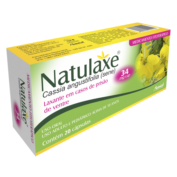 Natulaxe 34mg com 20 cápsulas - Natulab
