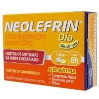 Neolefrin Dia (Paracetamol + Cloridrato De Fenilefrina) 20 Cpr