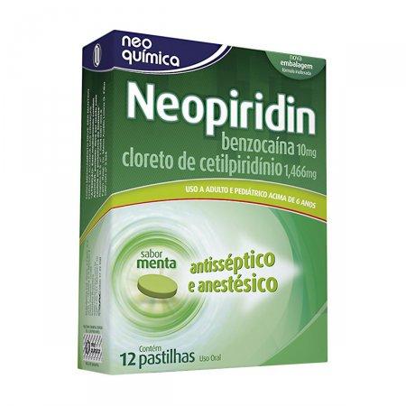 Neopiridin (Cloreto De Cetilpiridínio + Benzocaína) 12 Pastilhas