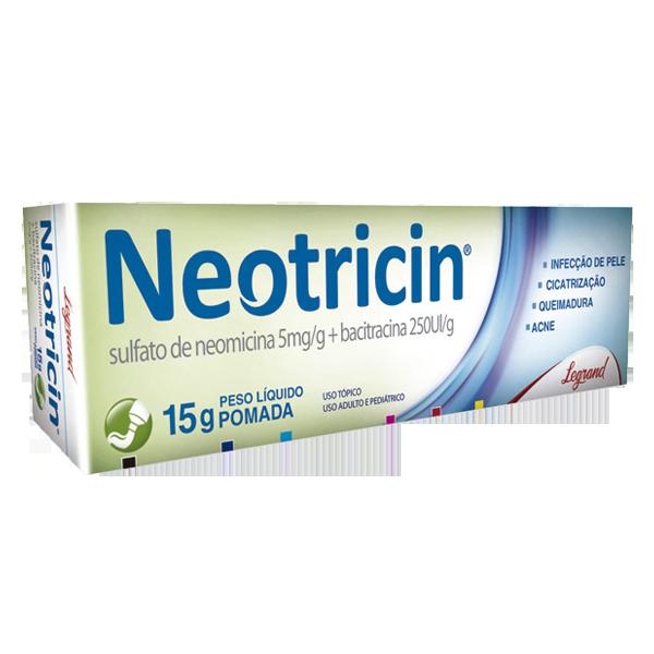 Neotricin pomada 5mg/g + 250UIg com 15g - Legrand