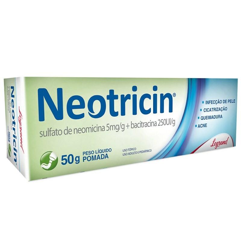 Neotricin pomada 5mg/g + 250UIg com 50g - Legrand
