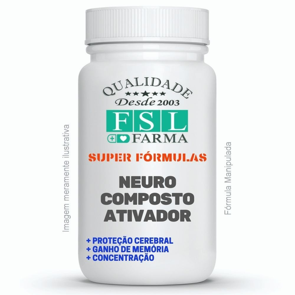 Neuro Ativador Cognitivo, Memória E Raciocínio - 60 Cáps