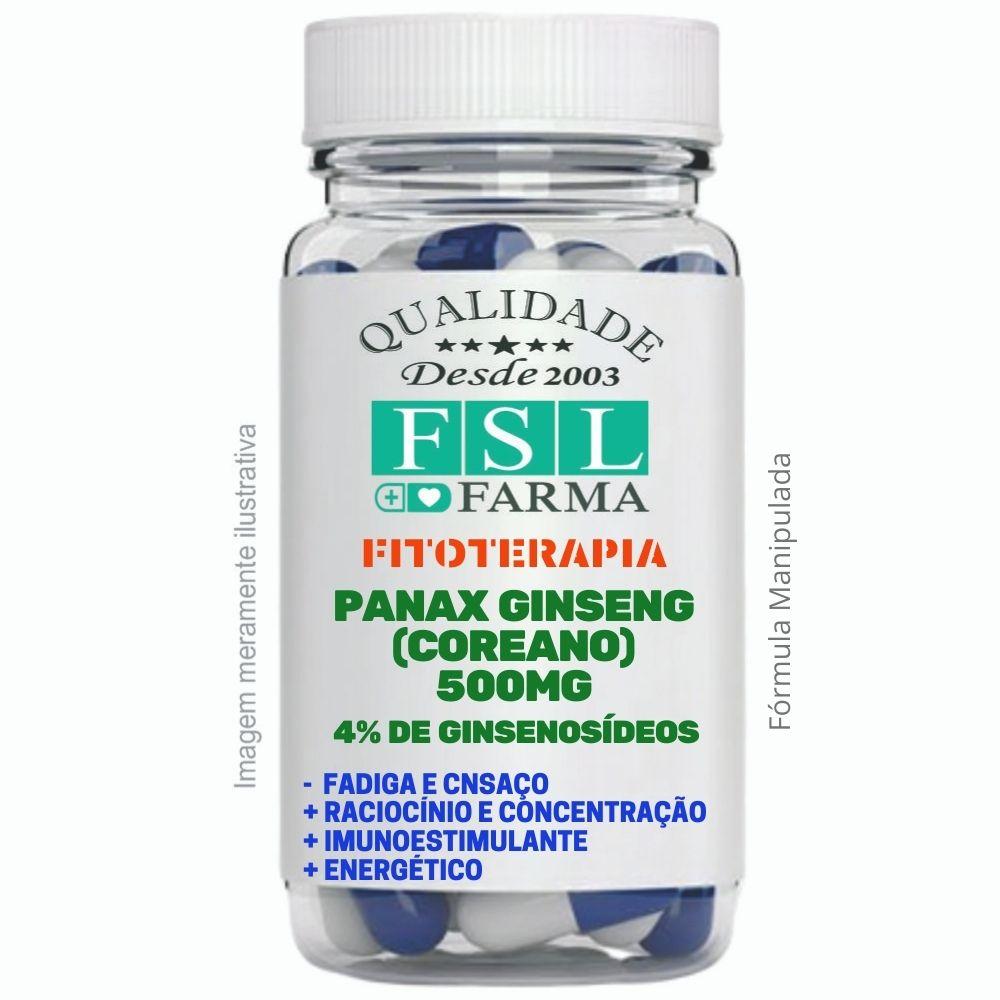 Panax Ginseng (Coreano) 4% de Ginsenosídeos 500mg