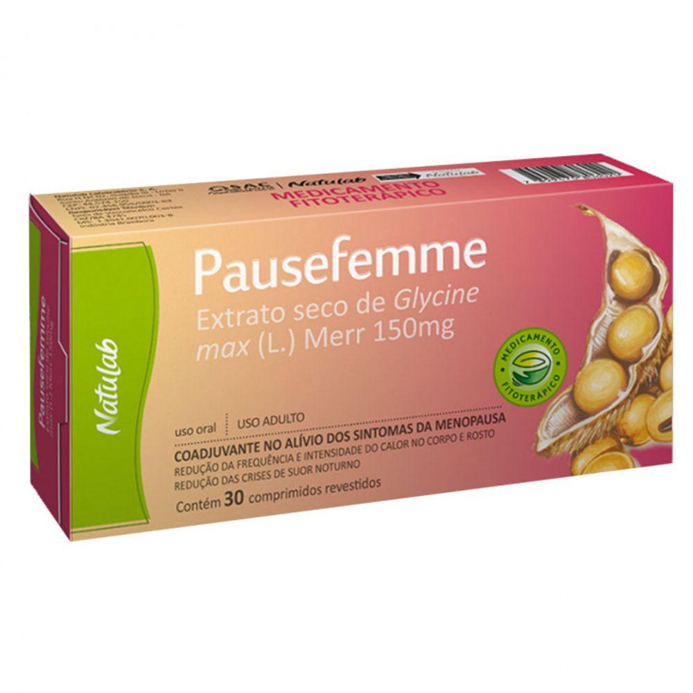Pausefemme 150mg com 30 comprimidos - Natulab