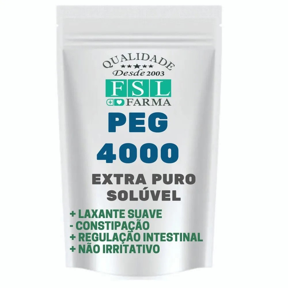 Peg 4000 Polietilenoglicol 1Kgr + Copo Medidor