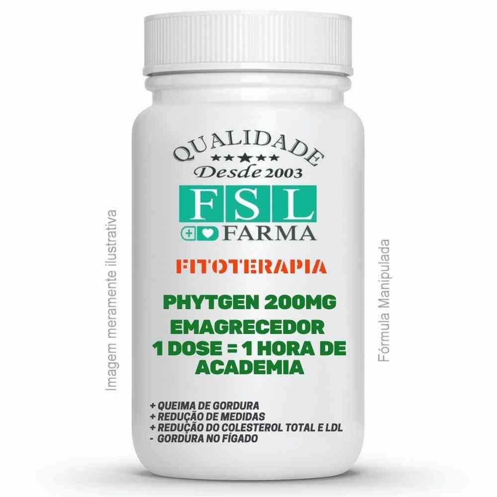 Phytgen 200mg - Emagrecedor 1 dose = 1 hora de Academia ®