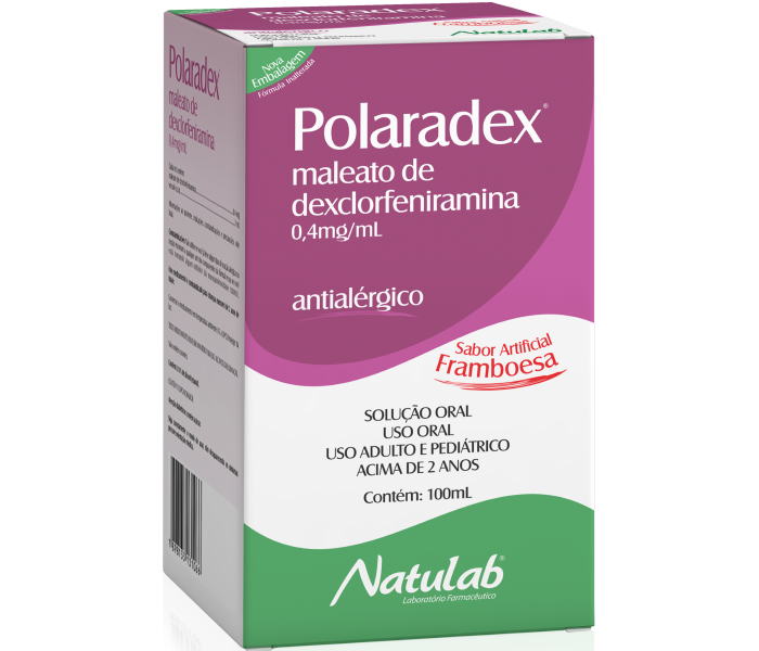 Polaradex 2mg/5mL com 100ml - Natulab