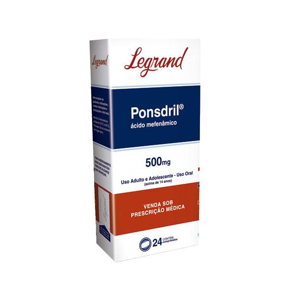 Ponsdril 500mg com 24 comprimidos - Legrand