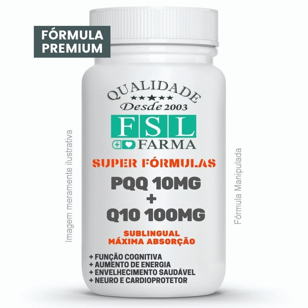 PQQ 10mg + Coenzima Q10 100mg Sublingual ®