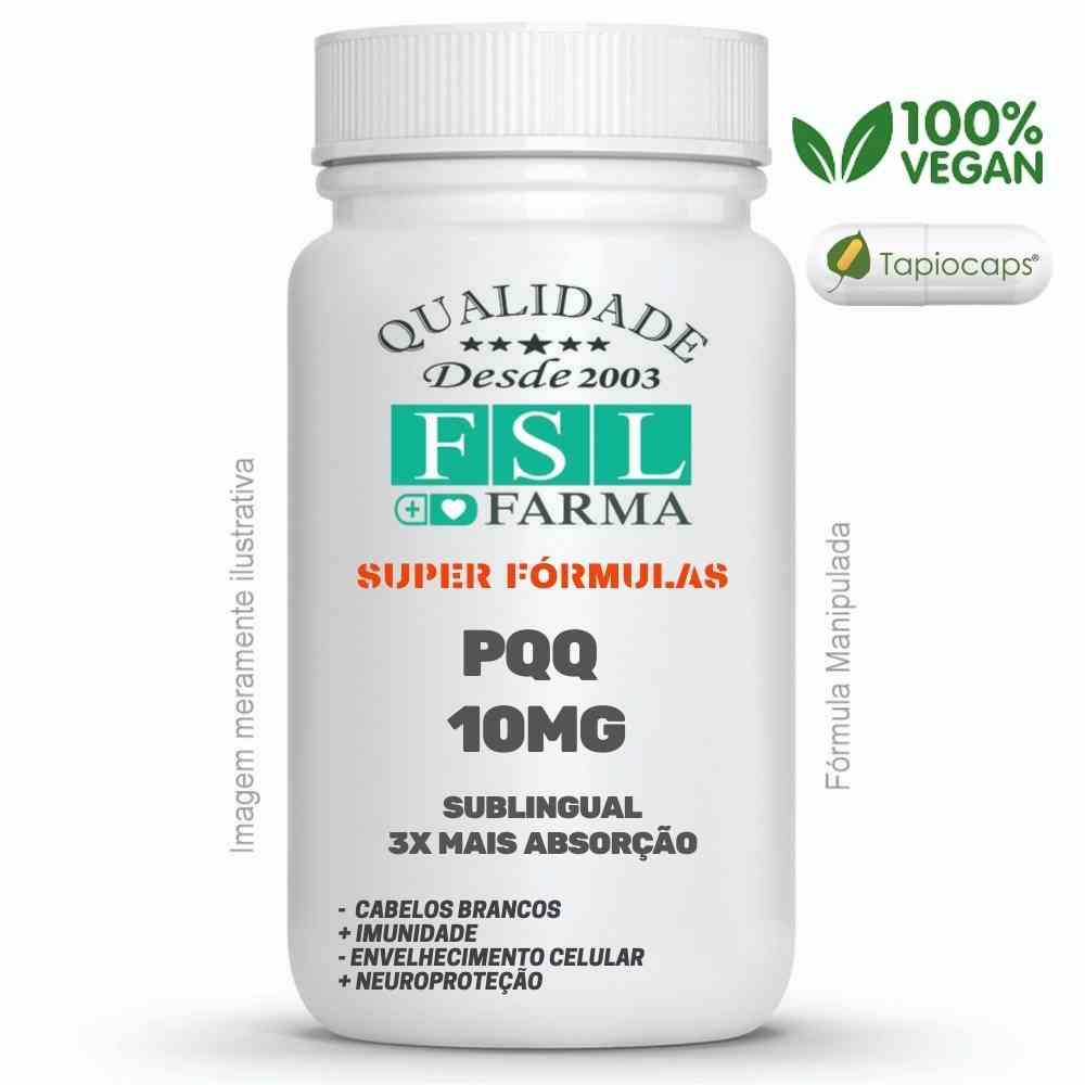 Pqq - Pirroloquilonina Quinona 10Mg Sublingual ®