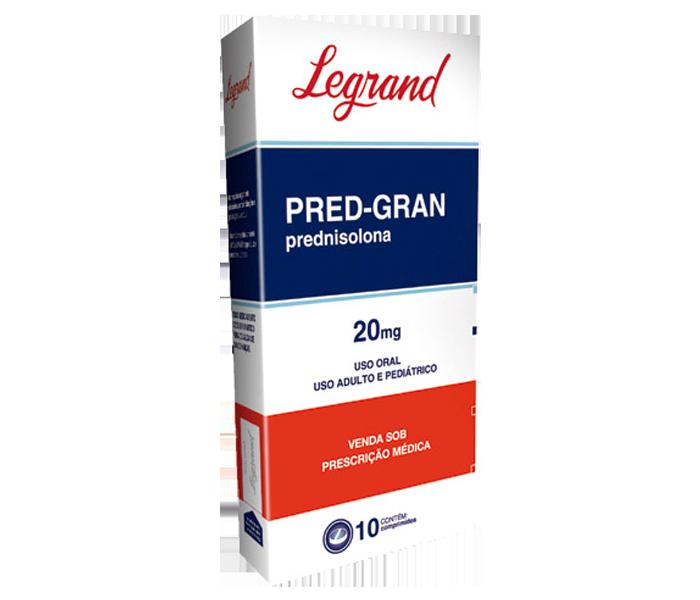 Pred-Gran 20mg com 10 comprimidos - Legrand