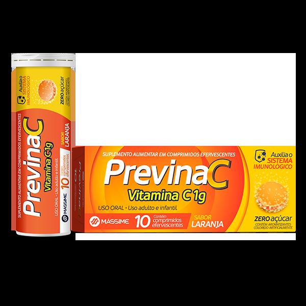 Previna C 1g com 10 comprimidos - Massime