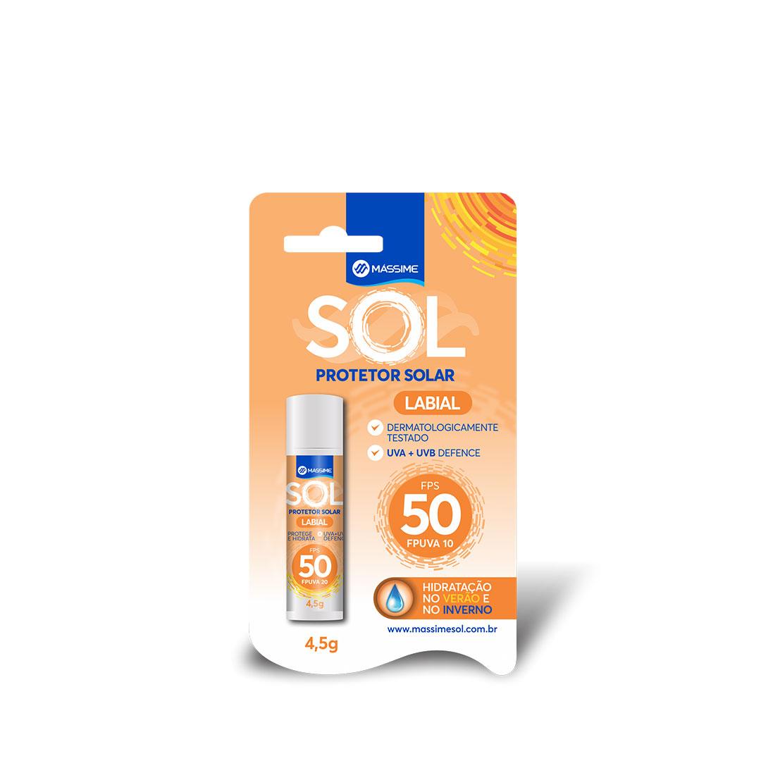 Protetor Solar Labial Massime FPS50